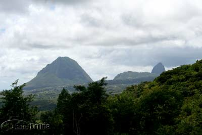 World-famous Pitons in Soufriere